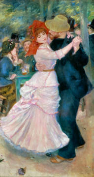 Dance in the country of artist Pierre Auguste Renoir as framed image