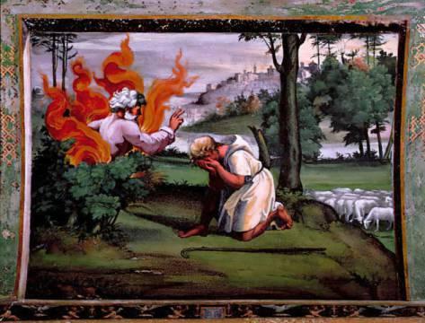 Raffael - Moses unter dem brennenden Dornbusch - digitaler Kunstdruck