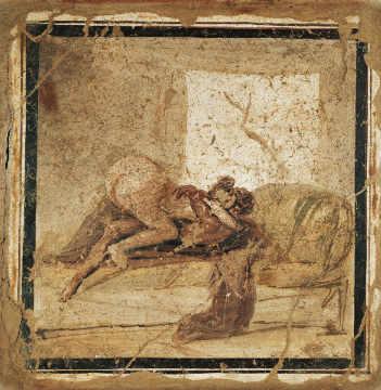Arte erótica de Pompeia - Picture of