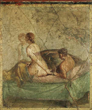 Fine Art Reproduction inidual art card AKG Anonymous Erotic scene / Roman wall & AKG Anonymous - Erotic scene / Roman wall-painting - Fine Art ...