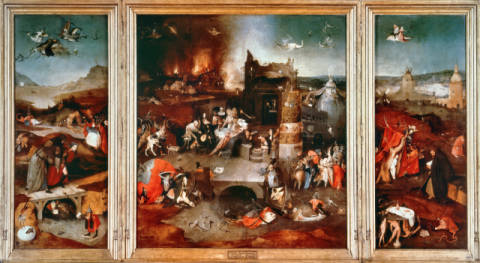 The Temptation of St. Antony of artist Hieronymus Bosch as framed image