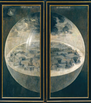 Bosch / Creation of the World of artist Hieronymus Bosch as framed image