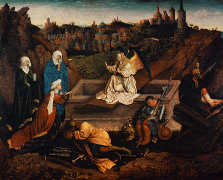 Fine Art Reproduction, individual art card: Hubert & Jan van Eyck, The Three Maries at the Grave of Christ