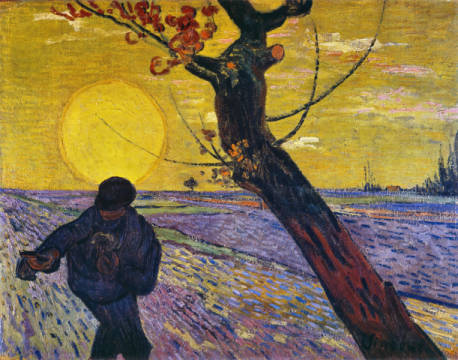 Fine Art Reproduction, individual art card: Vincent van Gogh, The Sower