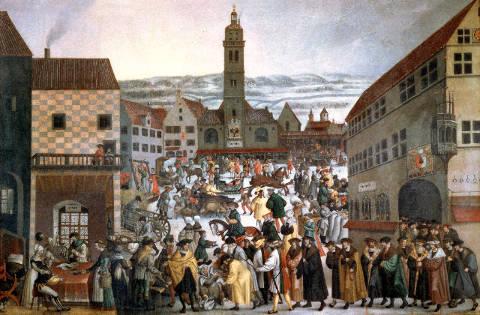 Künstler Augsburg augsburg der augsburger perlachplatz im winter digitaler