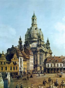 Akg Anonymous Der Neumarkt In Dresden Vom J Denhofe Aus