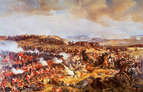 Fine Art Reproduction, individual art card: Felix Henri Philippoteaux, The Battle of Waterloo