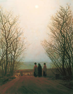 Ostermorgen of artist Caspar David Friedrich as framed image