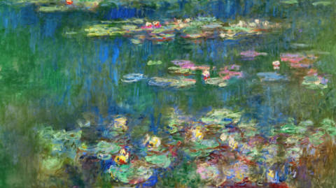 Fine Art Reproduction, individual art card: Claude Monet, Water Lilies