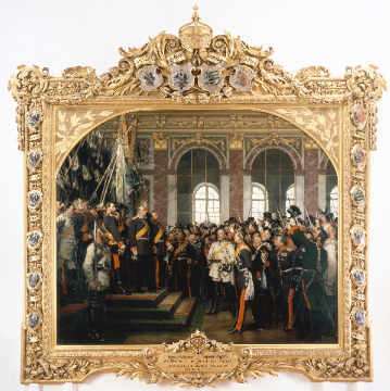 Proclamation of the Empire (complete) of artist Anton Alexander von Werner as framed image