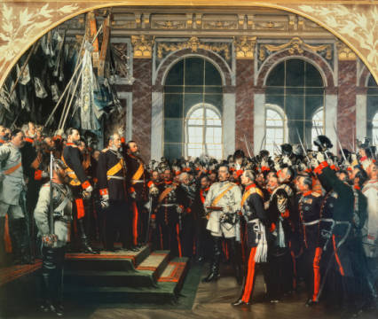 Fine Art Reproduction, individual art card: Anton Alexander von Werner, The Proclamation of the German Kaiser