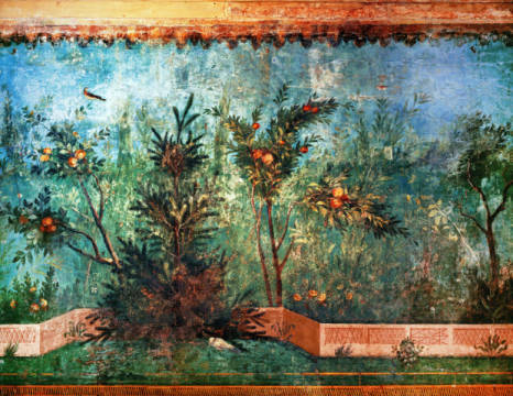 The painted garden from the Villa of Livia for #natureMW