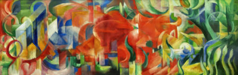Playing forms of artist Franz Marc as framed image