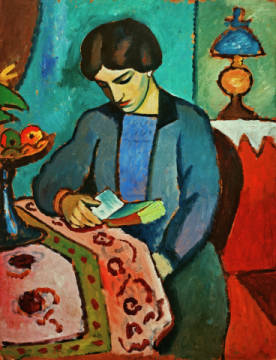 Fine Art Reproduction, individual art card: August Macke, The wife of the artist