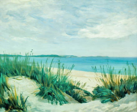 Dunes at the Baltic Sea of artist Walter Leistikow as framed image