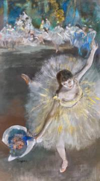 Edgar Degas Danseuse Fin D Arabesque Art Print Canvas On Stretcher