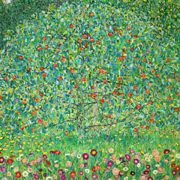 Fine Art Reproduction, individual art card: Gustav Klimt, Apfelbaum I