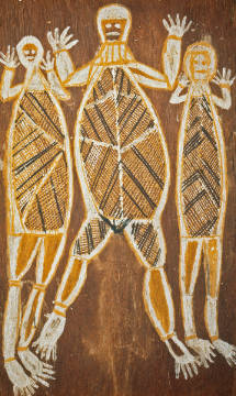 AKG Anonymous: drei Geister / Aborigines-Kunst. Art Print