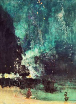 Nocturne in Black and Gold-the falling rocket von Künstler James Abott McNeill Whistler als gerahmtes Bild