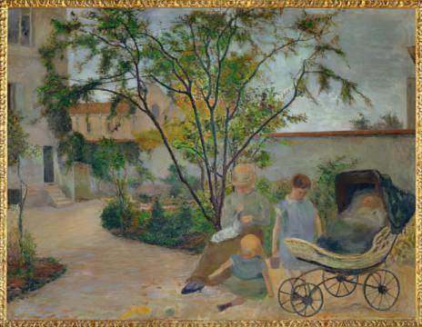 Paul gauguin jardin a vaugirard ou la famille du for Au jardin de la famille de fabreville