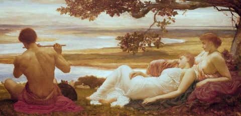 Fine Art Reproduction, individual art card: Lord Frederick Leighton, Idyll