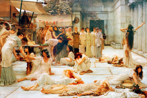 Kunstdruck, individuelle Kunstkarte: Sir Lawrence Alma-Tadema, The women of Amphissa
