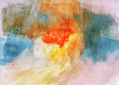 Kunstdruck, individuelle Kunstkarte: Joseph Mallord William Turner, The Burning of the Houses of Parliament