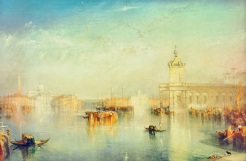 Kunstdruck, individuelle Kunstkarte: Joseph Mallord William Turner, The Dogana, San Giorgio, Citella, from the Steps of the Europa