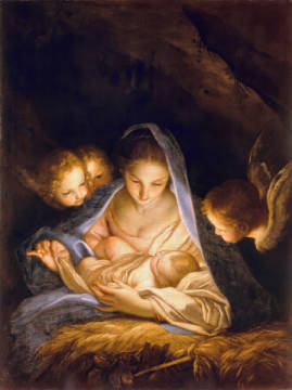 Fine Art Reproduction, individual art card: Carlo Maratti, The Holy Night