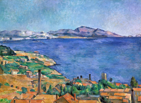Fine Art Reproduction, individual art card: Paul Cézanne, The bay of Marseille, seen from L'Estaque