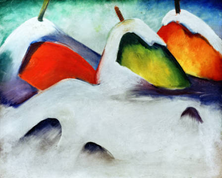 Fine Art Reproduction, individual art card: Franz Marc, Hocken in the Snow