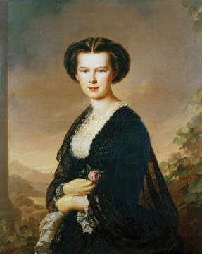 Fine Art Reproduction, individual art card: Anton Einsle, Empress Elisabeth /Painting / A.Einsle