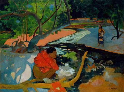 Paul Gauguin: Verschneites Paris. Kunstdruck, Leinwandbild