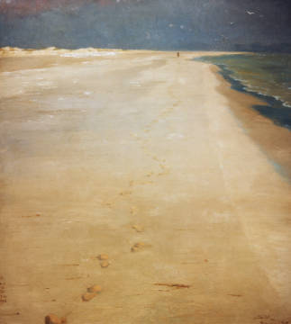 Fine Art Reproduction, individual art card: Peter Severin Kr�yer, South beach of Skagen