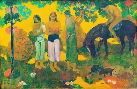 Paul Gauguin - Chemin a papeete - Kunstdruck - 50x70
