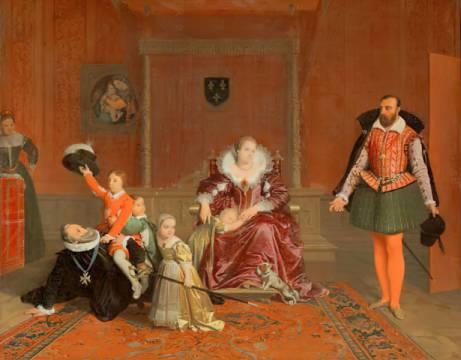 jean auguste dominique ingres henri iv jouant avec ses enfants au moment o l 39 ambassadeur d. Black Bedroom Furniture Sets. Home Design Ideas