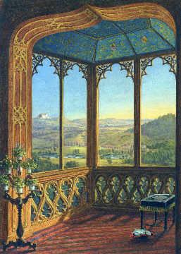 Blick aus dem fenster bilder  Ferdinand Zschäck - Schloß Callenberg: Blick aus dem Fenster des ...