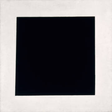 Black Square of artist Kasimir Sewerinowitsch Malewitsch as framed image