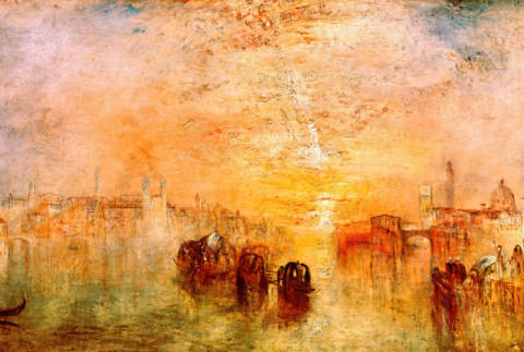 Venice: Going to the Ball (San Martino) of artist Joseph Mallord William Turner as framed image