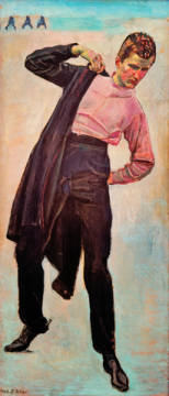Fine Art Reproduction, individual art card: Ferdinand Hodler, Student from Jena, 1908
