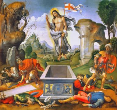 Raffaellino del Garbo - Auferstehung Christi - digitaler Kunstdruck ...