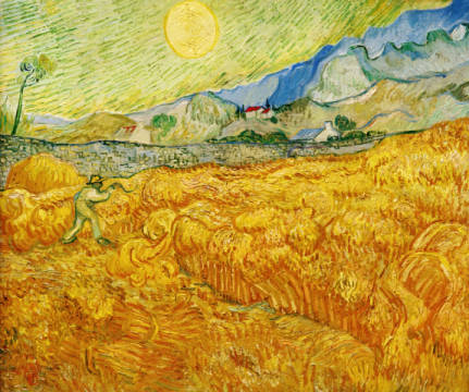 Fine Art Reproduction, individual art card: Vincent van Gogh, Harvest
