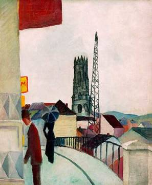 Fine Art Reproduction: August Macke, Kathedrale zu Freiburg in der Schweiz
