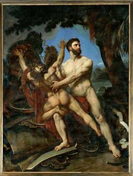 Hercules and Diomedes,1835 Canvas Musee of artist Baron Antoine Jean Gros as framed image