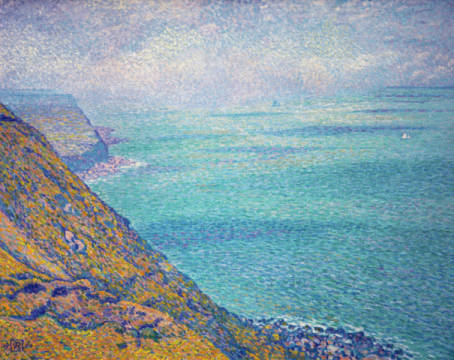 Le Cap Gris-Nez of artist Theodore van Rysselberghe as framed image