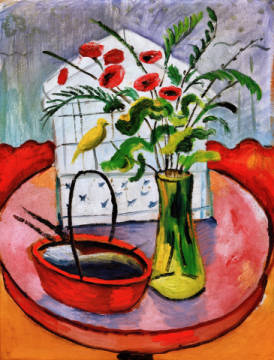 Fine Art Reproduction, individual art card: August Macke, Vogelbauer