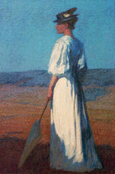 Fine Art Reproduction, individual art card: Otto Ubbelohde, Woman in white