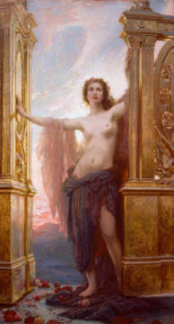 Kunstdruck, individuelle Kunstkarte: Herbert James Draper, The Gates of Dawn