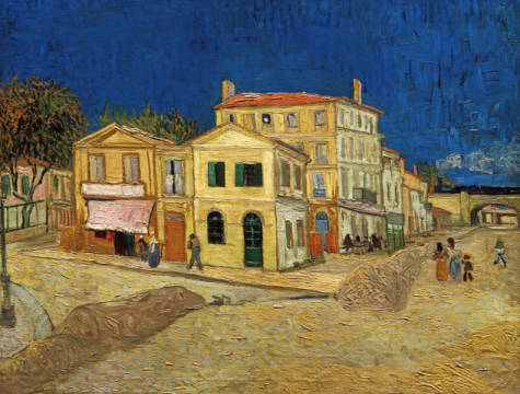 The Yellow House of artist Vincent van Gogh as framed image