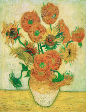 Fine Art Reproduction, individual art card: Vincent van Gogh, Sunflowers 1888